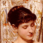 French artists - Hirsch Alphonse A Young Beauty