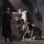 French artists - FRAGONARD Alexandre Evariste Vivant Denon Replacing El Cids Remains In Their Tombs