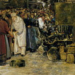 French artists - Hochard Gaston At The Marketplace