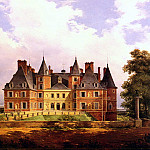 French artists - Barbier Nicolas Alexandre A French Chateau