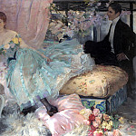 French artists - Doucet H L The Eager Suitor