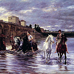 French artists - Crossing the River