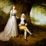 French artists - Devis Arthur William Portrait Of Robert Grant And His Wife Elizabeth