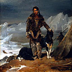 French artists - Cogniet Leon A Woman from the Land of Eskimos