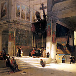 French artists - Brest Germain Fabius Followers Inside An Eastern Church