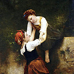 French artists - Hublin Emile Auguste A Helping Hand