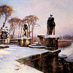 French artists - Frequenez Paul Leon Parc De St Cloud In The Snow