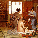 French artists - The Japanese Toilette 1873