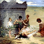 French artists - Quinsac Paul Francois Death Of Polyxena