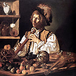 French artists - CECCO DEL CARAVAGGIO The Flute Player