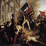French artists - SCHNETZ Jean Victor The Battle For The Town Hall