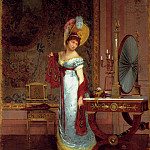 French artists - Adan Louis Emile The New Shawl