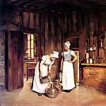French artists - Bail Franck Antoine Two Milkmaids