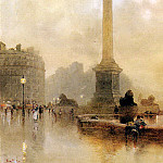 French artists - Barton Rose Maynard Nelsons Column In A Fog