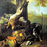 French artists - Still Life with Dead Hare and Fruit wga