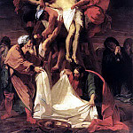 French artists - JOUVENET Jean Baptiste Descent From The Cross