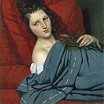 French artists - COURT Joseph Desire Half Length Woman Lying On A Couch