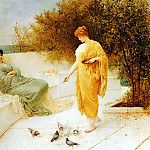 Schafer Henry Thomas Feeding Doves, French artists
