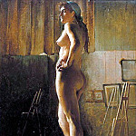 Bernard Joseph Standing Nude, French artists