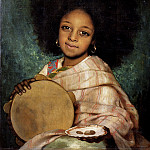 Corbineau Charles Auguste La Fille Avec Tambourin, French artists