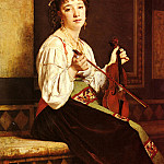French artists - Glaize Pierre Paul Leon Musicienne Italienne