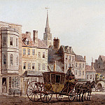 French artists - Marlow William A Coach And Horses Entering York