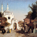 French artists - Brest Germain Fabius Outside The Mosque
