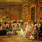 LEMONNIER Anicet Charles Gabriel In The Salon Of Madame Geoffrin In 1755, French artists