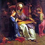 French artists - Jouvenet, Jean - Baptiste (French, 1644-1717) The Education Of The Virgin