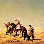 French artists - Billet Etienne The Desert Hunt