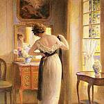 French artists - Gelhay Edouard The Reflection
