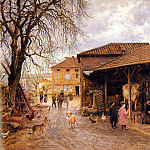 Firmin-Girard Marie Francois 1838-1921 Le Feurage Des Boeufs OC 60by81cm, French artists
