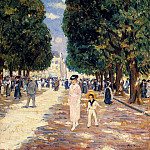 French artists - Stern Max Figures In A Park On A Sunny Day