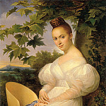 French artists - Portrait of a Woman Seated Beneath a Tree