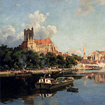 French artists - Garibaldi Joseph Vue De La Cathedrale D Auxerre