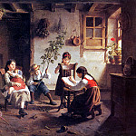 French artists - Seignac Paul The Reading Lesson
