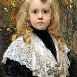 French artists - Maxence Edgar Portrait d - Enfant. JPG
