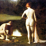 French artists - Hodebert Leon Aguste Cesar The Bathers