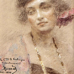 French artists - Besnard Albert Portrait Of A Woman