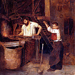 French artists - Bonvin Francois Saint The Blacksmiths Shop