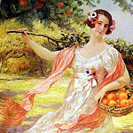 Deully Eugene Auguste Francois Femme Aux Oranges, French artists