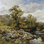 French artists - Bates David Children by a Stream