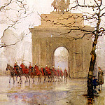 French artists - Barton Rose Maynard Hyde Park Corner With Household Cavalry