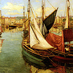 French artists - Charpentier Georges Dans Le Port De La Rochelle