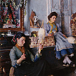 Venetian Women Spinning Wool, French artists