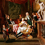 French artists - Angellis Pieter A Musical Assembly