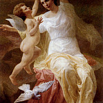 French artists - Blanchard Theophile Venus And Cupid