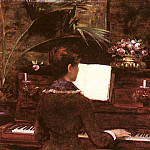 Abbema Louise At The Piano, French artists