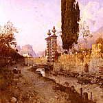French artists - Russ Robert Landscape In Northern Italy