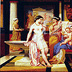 French artists - Jollivet Pierre Jules Ladies In A Pompeian Interior
